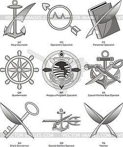 US-Marine Diverses Bewertungen 2 - Vector-Illustration