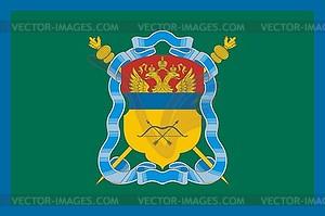 Flagge der Orenburg Kosaken - Vektor-Clipart