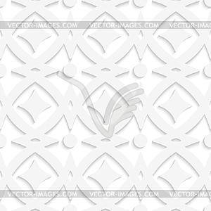 Weiß Rauten und weißen Ornament - Stock-Clipart