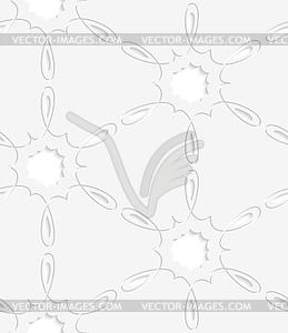 Hellgrau einfache Blume nahtlose Muster Wirbel - Vektorgrafik