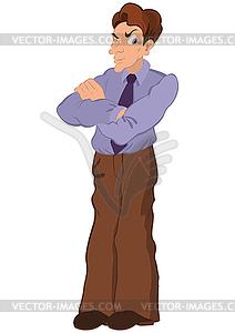 Cartoon-Mann mit einem Auge geschlossen - farbige Vektorgrafik