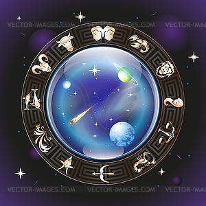 Horoskop-Kreis - Vektor-Clipart / Vektorgrafik