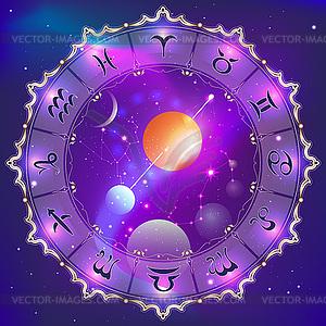 Horoskop-Kreis - vektorisiertes Clipart