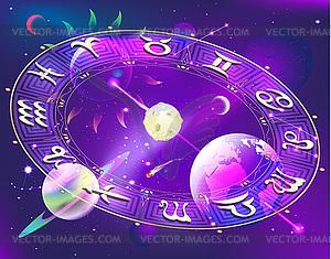 Horoskop-Kreis - Vektorgrafik-Design