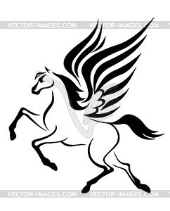 Pegasus Pferd mit Flügeln - Stock Vektor-Clipart