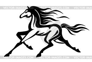 Running Horse - vektorisiertes Clip-Art