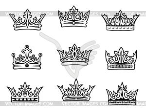 Set Königskronen - Royalty-Free Vektor-Clipart