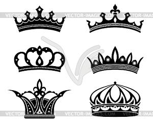 Königliche Kronen und Diademe - Vektor-Clipart / Vektorgrafik