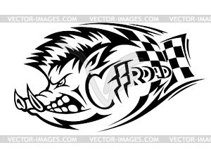 Offroad Wildschwein Tattoo - Vektor-Clipart / Vektorgrafik