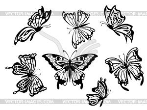 Schöne Schmetterlinge - Vector-Clipart EPS