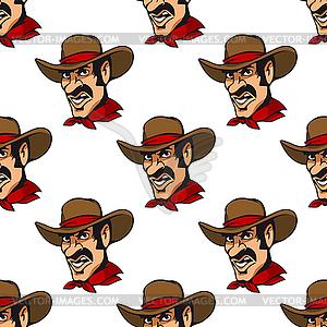 Nahtlose Hintergrund mit Cowboy-Hut in - vektorisiertes Design