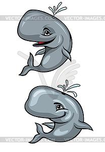 Lustige Wale - Vector-Design