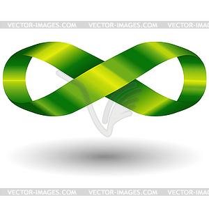 Grünes Symbol der Unendlichkeit - Vektor-Clipart / Vektorgrafik