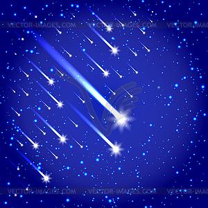 Raum Hintergrund mit Sternen und Kometen - Vektorgrafik