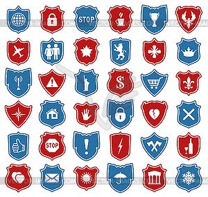 Satz von Symbolen Schild - Clipart-Bild