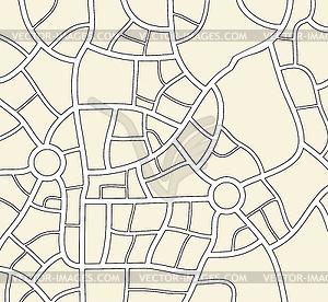 Stadtplan Hintergrund - Vector-Clipart
