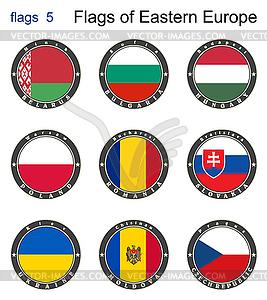Flaggen von Osteuropa. Flaggen - Vector-Bild