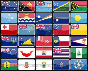Elements Design-Ikonen Flaggen der Länder von - Vektorabbildung