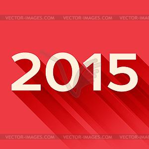 2015 Jahre Schild mit langen Schatten - Stock Vektor-Bild