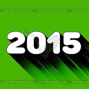 2015 Jahre Schild mit langen Schatten - Stock-Clipart
