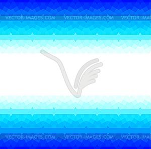 Blauer Rahmen mit nahtlose Muster Arabisch - Vector-Clipart / Vektor-Bild