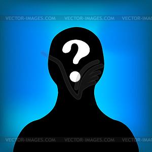 Anonymous Symbol - farbige Vektorgrafik
