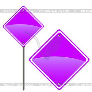New road sign - vektorisiertes Clip-Art