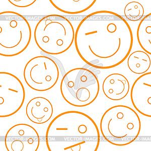 Lächeln nahtlose Muster - Vector Clip Art