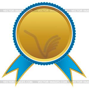Blau und Gold Bänder Auszeichnung, - Vektorgrafik-Design