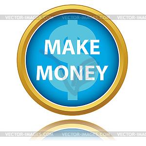 Verdienen Sie Geld Schaltfläche - Vector-Clipart / Vektor-Bild