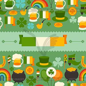St. Patrick `s Day nahtlose Muster - farbige Vektorgrafik