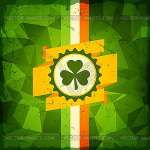 St. Patrick `s Day abstrakte Grunge-Hintergrund - farbige Vektorgrafik