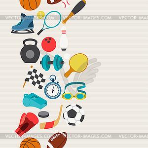 Nahtlose Muster von Sport-Symbole - Vektorgrafik-Design