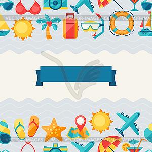Reisen und Tourismus nahtlose Muster - Vector-Clipart / Vektorgrafik