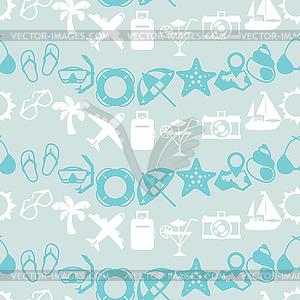 Reisen und Tourismus nahtlose Muster - Vektor Clip Art