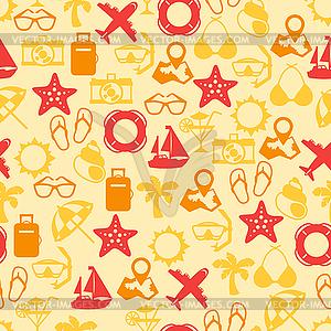 Reisen und Tourismus nahtlose Muster - Vektor-Illustration
