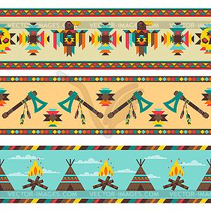 Ethnische nahtlose Muster im einheimischen Stil - Vektorgrafik-Design