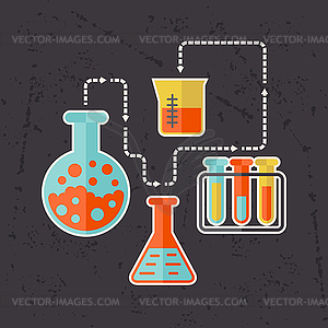 Science-Konzept in flachen Design-Stil - Vector-Clipart EPS
