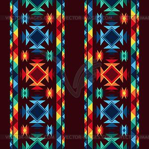 Tribal abstrakte nahtlose Muster aztekische geometrische - Vector-Abbildung