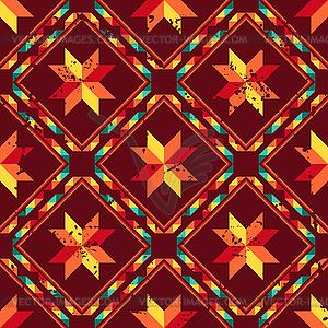 Tribal abstrakte nahtlose Muster aztekische geometrische - vektorisiertes Clip-Art