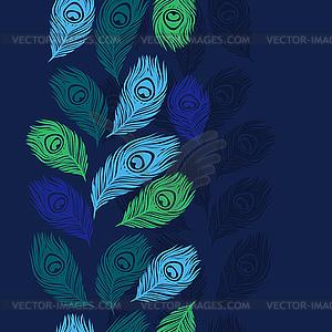 Nahtlose Muster mit Pfauenfedern - Vector-Clipart / Vektor-Bild