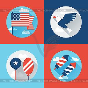 Vereinigte Staaten von Amerika Independence Day Gruß - Vector-Clipart / Vektor-Bild