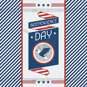 Vereinigte Staaten von Amerika Independence Day Gruß - vektorisiertes Clipart