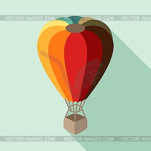 Heißluftballon im flachen Design-Stil - Stock-Clipart