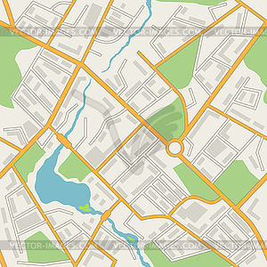 Stadtplan abstrakte nahtlose Muster Hintergrund - Vector-Illustration