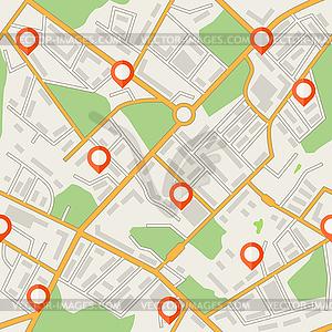 Stadtplan abstrakte nahtlose Muster Hintergrund - Vektor-Clipart / Vektorgrafik