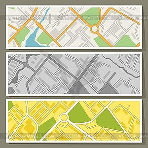 Stadtplan abstrakte horizontale Banner Hintergrund - Stock Vektor-Clipart