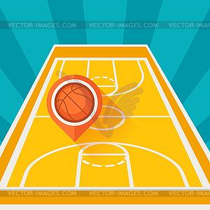 Sport Hintergrund mit Basketballplatz und Marker - Stock Vektor-Bild