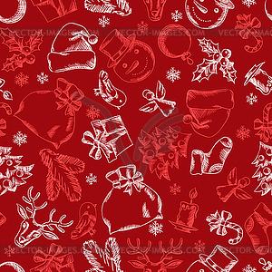 Frohe Weihnachten nahtlose Muster Design - Vektor-Clipart EPS
