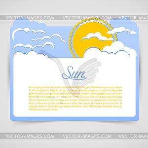 Blaue abstrakte Wolken - Stock Vektorgrafik